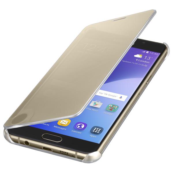 Samsung, Чехол для сотового телефона, Clear View Cover A5 2016 Gold (EF-ZA510CFEGRU)