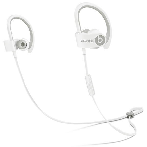 Спортивные наушники Bluetooth Beats Powerbeats 2 Wireless White (MHBG2ZE/A)