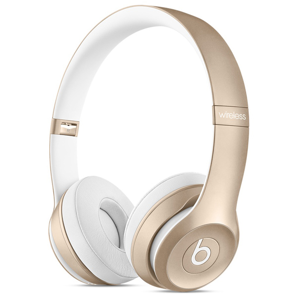 Наушники Bluetooth Beats Solo 2 Wireless Gold (MKLD2ZE/A)