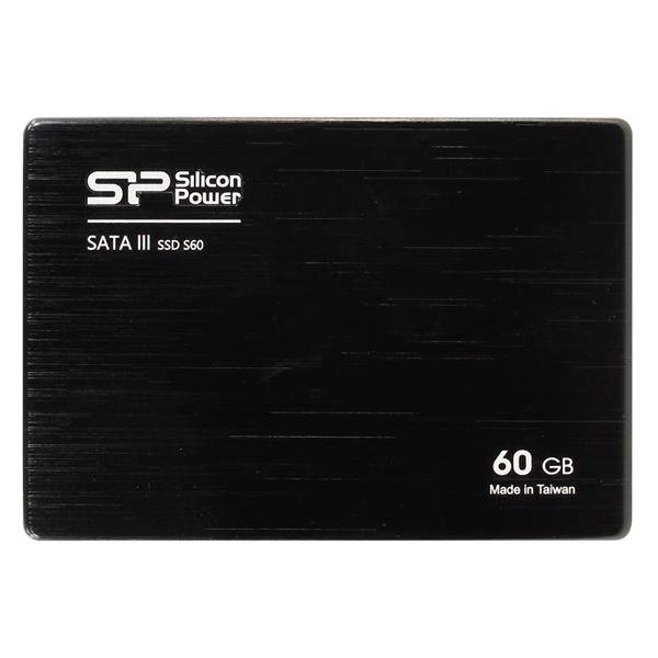 Внутренний SSD накопитель Silicon Power SP060GBSS3S60S25 ssd накопитель silicon power s60 sp060gbss3s60s25 60гб 2 5 sata iii