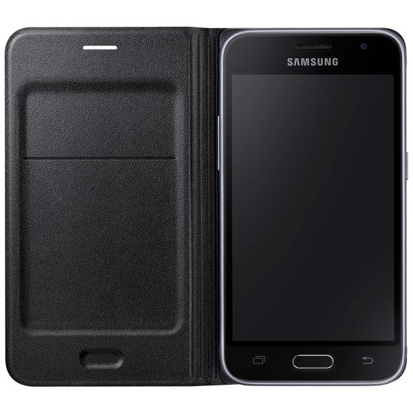 Чехол для сотового телефона Samsung Flip Wallet J1 Black (EF-WJ120PBEGRU) чехол samsung flip wallet для galaxy a710 белый ef wa710pwegru