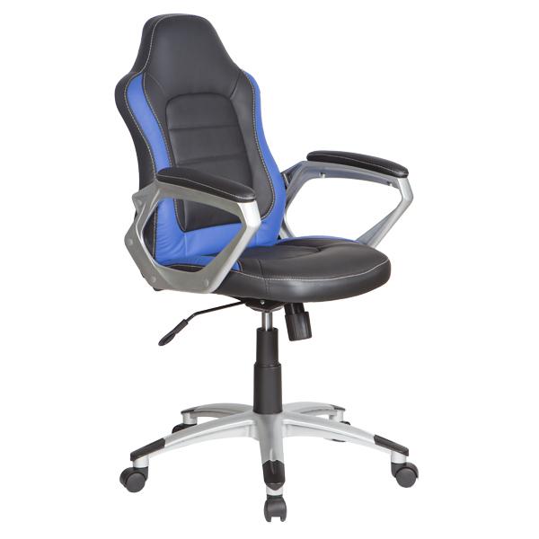 Кресло компьютерное Бюрократ CH-825S/BLACK+BL мешок боксерский 90 см d 31 см 25 кг боецъ бмб 01 синий