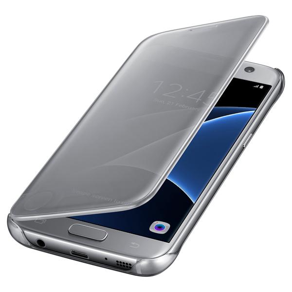 Чехол для сотового телефона Samsung Clear View Cover S7 Silver (EF-ZG930CSEGRU) samsung samsung clear view cover для samsung galaxy s7 чехол обложка полиуретан серебристый