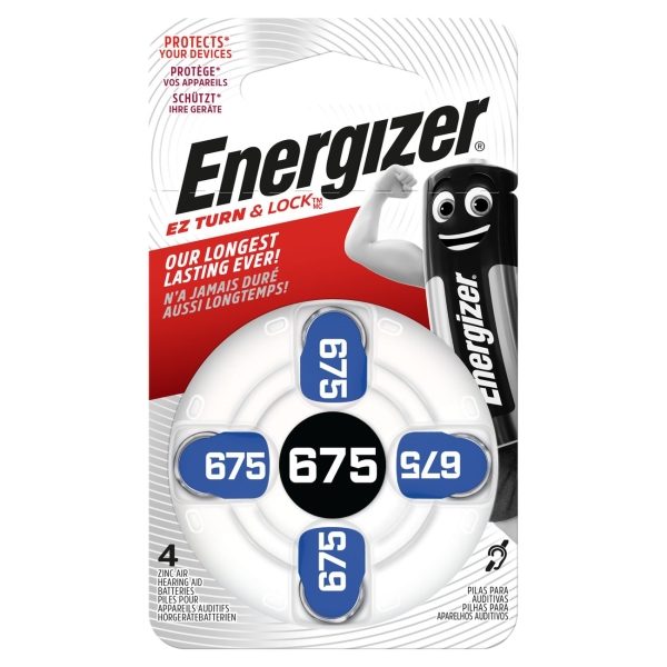 Батарея для слухового аппарата Energizer Zinc Air 675 DP-4