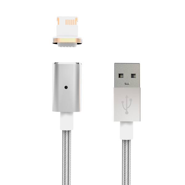 Кабель для iPod, iPhone, iPad InterStep IS-DC-MGNT8PNSL-000B201 кабель interstep usb apple 8pin mfi 1м