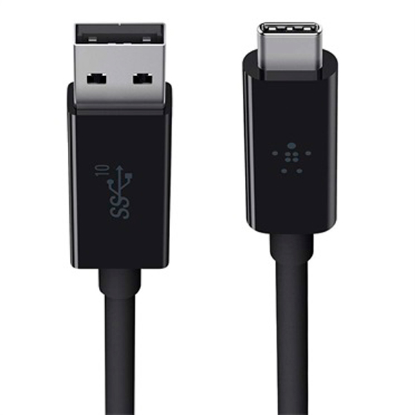 Кабель USB Type-C Belkin 3.1 USB-A to USB-C (F2CU029bt1M-BLK) аксессуар чехол sony xperia l1 brosco black l1 4side st black