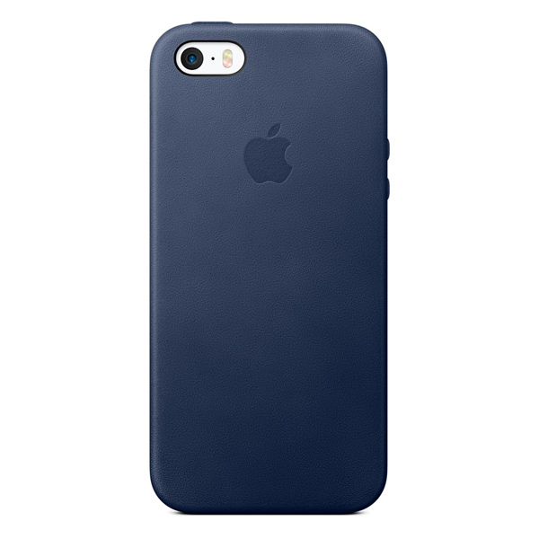 Чехол для iPhone Apple iPhone SE Leather Case Midnight Blue чехол накладка apple leather case midnight blue для iphone 7 plus mmyg2zm a кожа темно синий