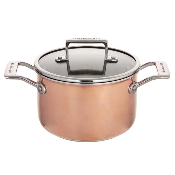Кастрюля (сверхпрочное покрытие) KitchenAid KC2P30EHCP 2,5л kitchenaid набор прямоугольных чаш для запекания 0 45 л 2 шт красные
