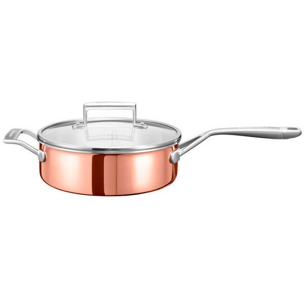 Сковорода (сверхпрочное покрытие) KitchenAid KC2P35EHCP 24см kitchenaid набор прямоугольных чаш для запекания 0 45 л 2 шт красные