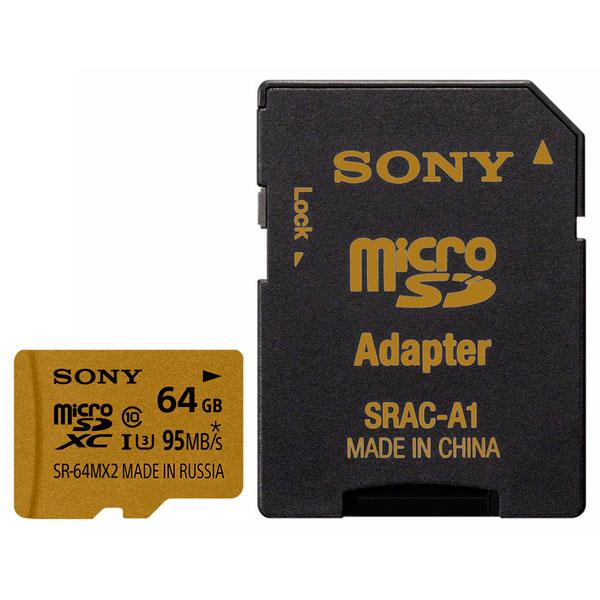 Карта памяти SDHC Micro Sony SR-64MX2A/NT карта памяти sdhc micro sony sr g1my3a st