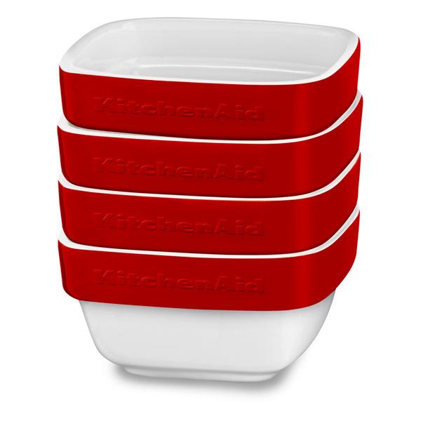 Форма для выпекания (керамика) KitchenAid набор KBLR04RMER 4шт. по 0,22л