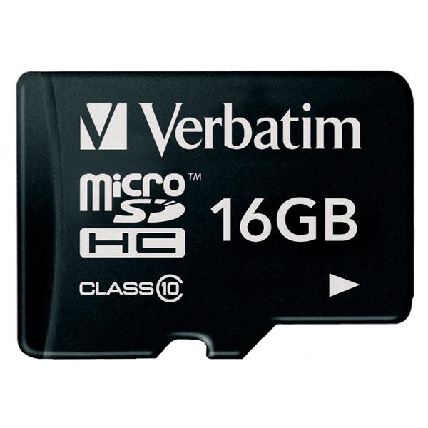 Карта памяти SDHC Micro Verbatim