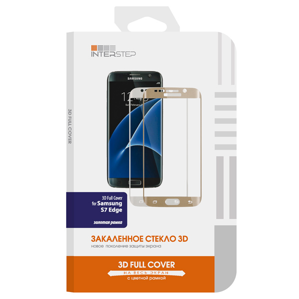 Защитное стекло InterStep для Galaxy S7 Edge (IS-TG-SAM7ED3DG-000B201) interstep азу interstep is cc 2usb0002k 000b201 black