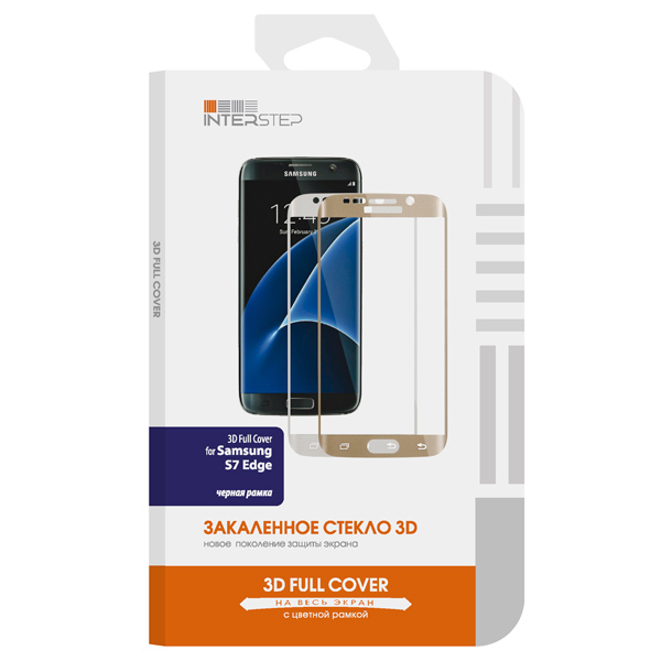Защитное стекло InterStep для Galaxy S7 Edge (IS-TG-SAM7ED3DB-000B201) interstep азу interstep is cc 2usb0002k 000b201 black