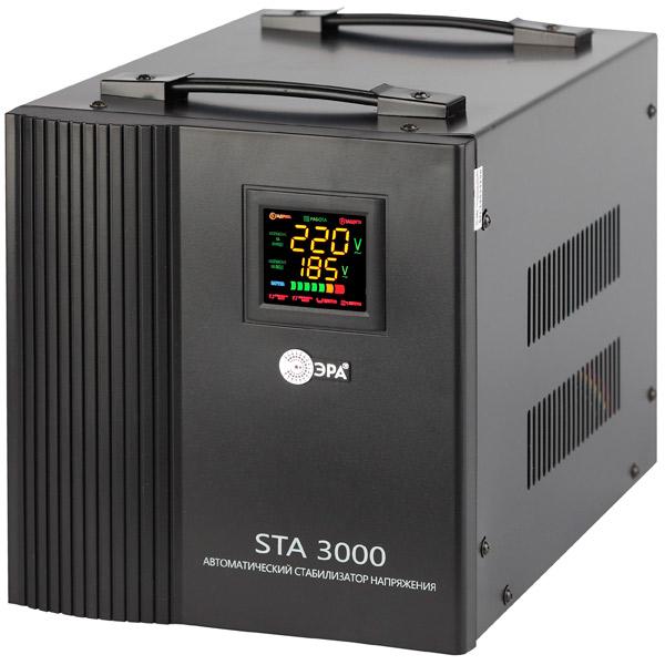 Стабилизатор напряжения ЭРА STA-3000 стабилизатор напряжения эра sta w 8000