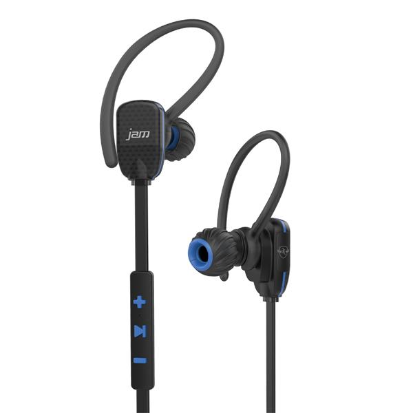 Спортивные наушники Bluetooth Jam Transit Micro Blue (HX-EP510BL-EU) eplutus ep 1104 в тамбове