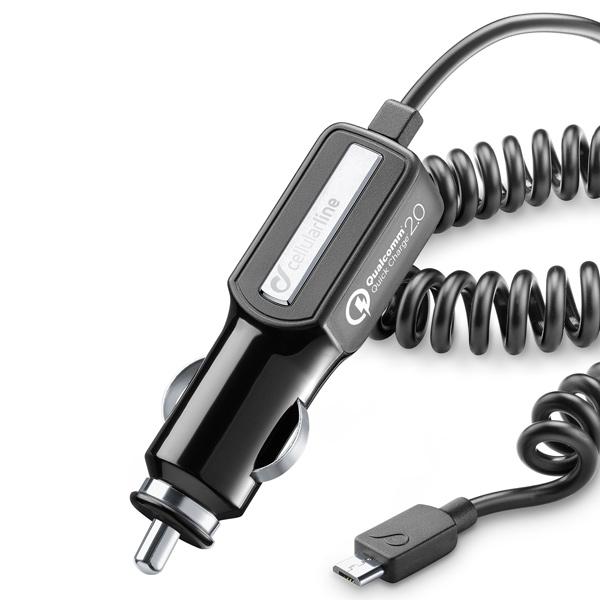 Автомобильное зарядное устройство с кабелем Cellular Line
