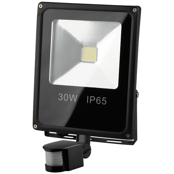 Прожектор ЭРА LPR-30-6500К-М-SEN светодиодный прожектор эра lpr 20 6500к м б0017300