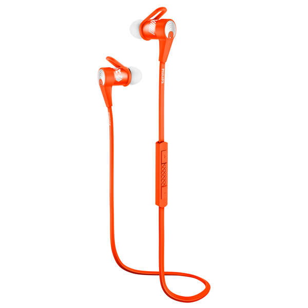 Спортивные наушники Bluetooth Philips SHQ7300OR/00 philips shq1300or 00 actionfit orange