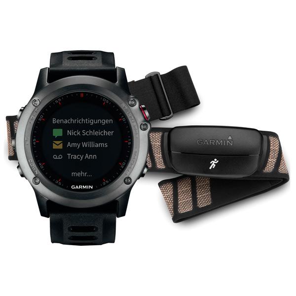 Спортивные часы Garmin Fenix 3 Gray Black Band HRM-Run (010-01338-11) garmin fenix 5 slate gray black band