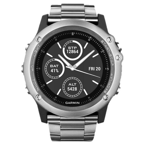 Спортивные часы Garmin Fenix 3 Sapphire Titan Band (010-01338-41) навигатор часы garmin fenix 3 sapphire 010 01338 21