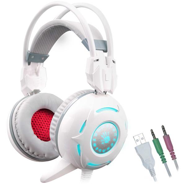 Игровые наушники A4Tech Bloody G300 Gray + White a4tech a4tech bloody g300