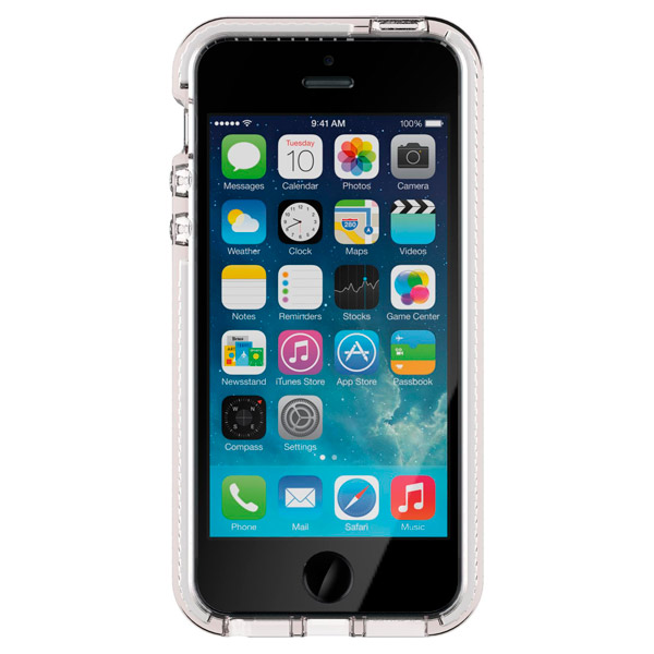Чехол для iPhone Tech21 T21-5169 Clear/White клип кейс ibox crystal для iphone se 5 5s серый