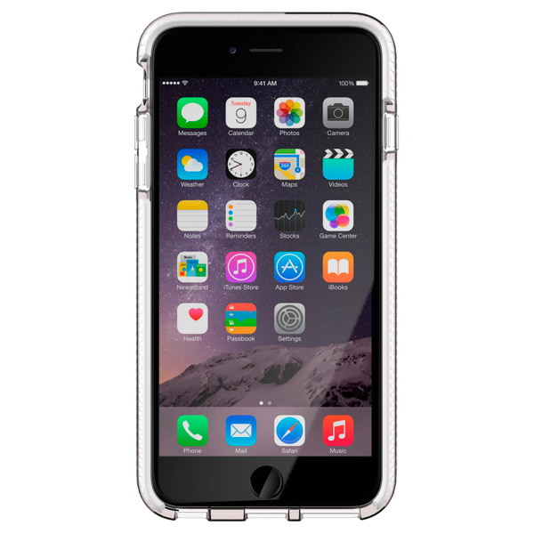 Чехол для iPhone Tech21 T21-5157 Clear/White чехол для iphone tech21 t21 5094 clear grey