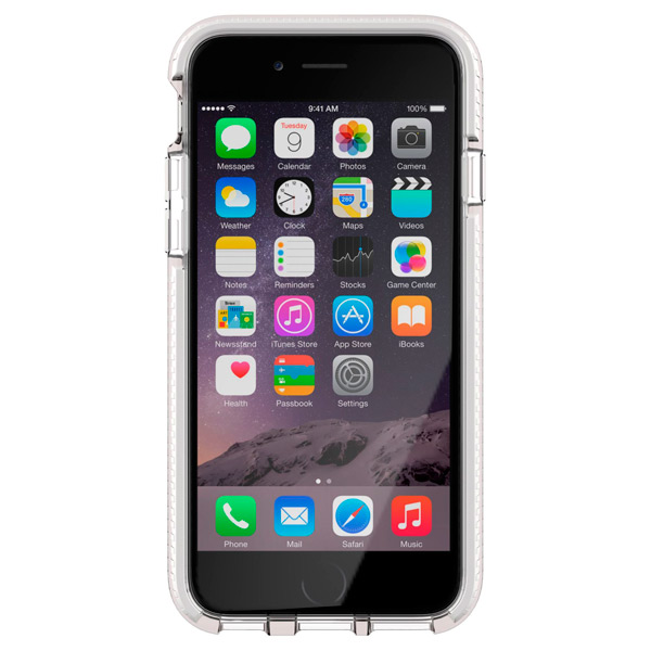 Чехол для iPhone Tech21 T21-5151 Clear/White чехол для iphone tech21 t21 5094 clear grey