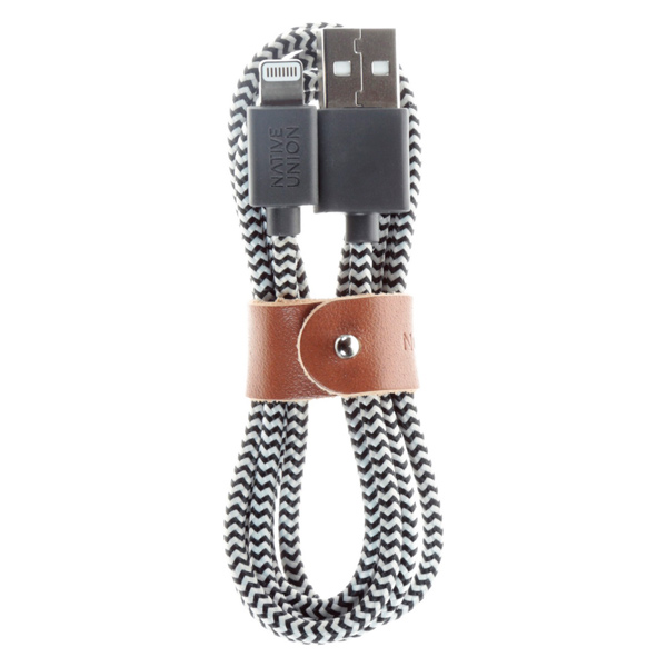 Кабель для iPod, iPhone, iPad Native Union BELT (BELT-L-ZEB-2-V2) кабель native union night lightning usb cable 3 м синий