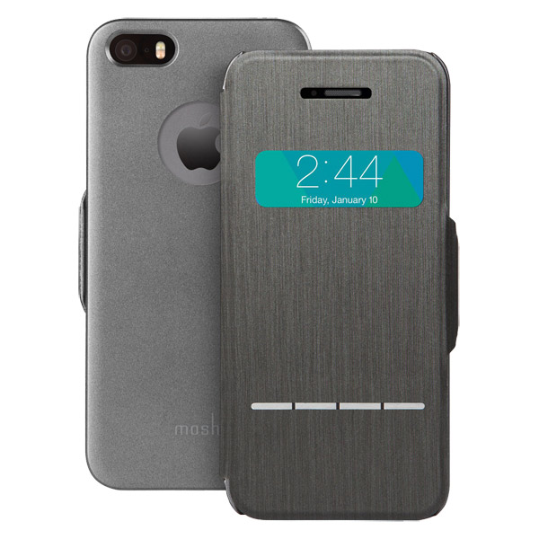 Чехол для iPhone Moshi SenseCover Graphite Black (99MO072001) цена 2017