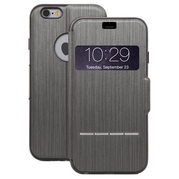 Чехол для iPhone Moshi SenseCover Steel Black (99MO072004) чехол книжка moshi sensecover для apple iphone 6 plus 6s plus
