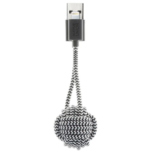 Кабель для iPod, iPhone, iPad Native Union KEY (KEY-L-ZEB) кабель native union night lightning usb cable 3 м синий