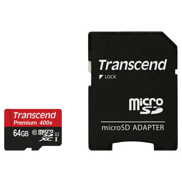 Карта памяти SDXC Micro Transcend