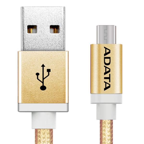 Кабель для сотового телефона ADATA microUSB-USB 1m Gold (AMUCAL-100CMK-CGD) фильтр предварительной очистки gardena 1731 01731 20 000 00