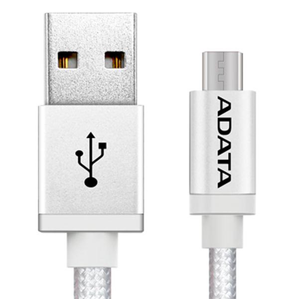 купить Кабель для сотового телефона ADATA microUSB-USB 1m Silver (AMUCAL-100CMK-CSV) недорого