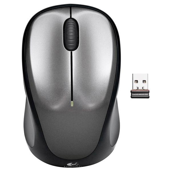 Logitech, Мышь беспроводная, M235 Gray (910-002201)