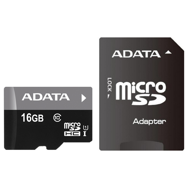 Карта памяти SDHC Micro ADATA AUSDH16GUICL10-RA1