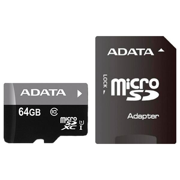 Карта памяти SDXC Micro ADATA AUSDX64GUICL10-RA1