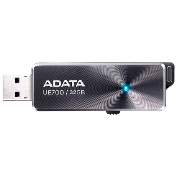 Флеш-диск ADATA DashDrive Elite UE700 Black 32GB (AUE700-32G-CBK) usb flash накопитель a data dashdrive elite ue700 64gb