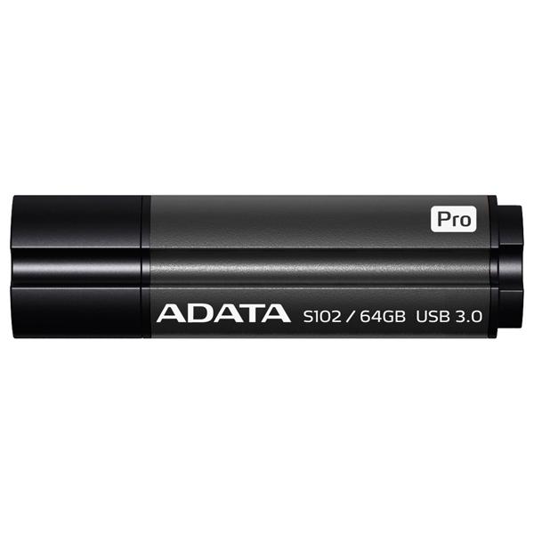 Флэш диск ADATA S102 PRO Grey 64GB (AS102P-64G-RGY)