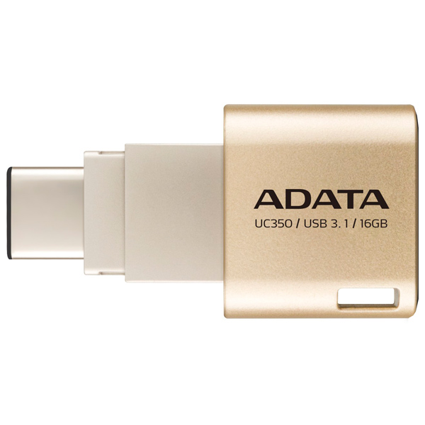 ADATA, Флеш-диск type c, Choice UC350 Gold 16GB (AUC350-16G-CGD)