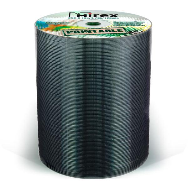 Mirex, Dvd-r диск, 4.7Gb 16x Shrink 100 шт. Printable (203315)