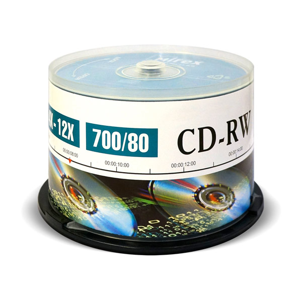 Mirex, Cd-rw диск, 700Mb 12х Cake Box 50 шт. (204169)