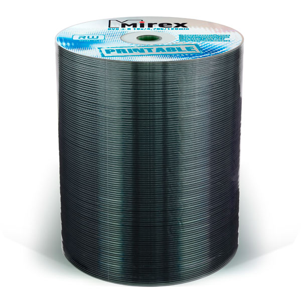 Mirex, Dvd+r диск, 4.7Gb 16x Shrink 100 шт. Printable Full (209768)