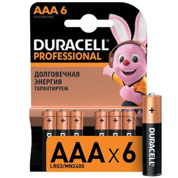 Купить Батарея Duracell Professional AAA LR03/MN2400 6шт. в каталоге интернет магазина М.Видео по выгодной цене с доставкой, отзывы, фотографии - Владикавказ