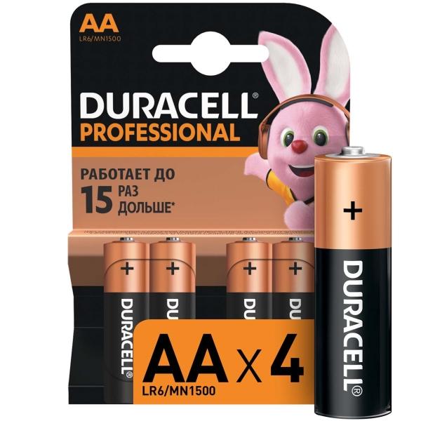 Купить Батарея Duracell Professional AA LR6/MN1500 4шт. в каталоге интернет магазина М.Видео по выгодной цене с доставкой, отзывы, фотографии - Екатеринбург
