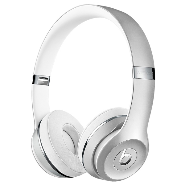 Наушники Bluetooth Beats Beats Solo3 Wireless On-Ear Silver (MNEQ2ZE/A) наушники beats solo3 wireless on ear gloss black mnen2ze a