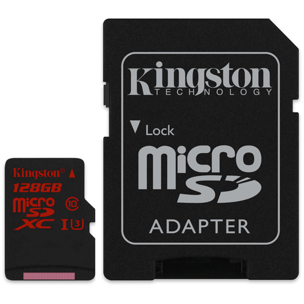 Карта памяти SDHC Micro Kingston SDCA3/128GB