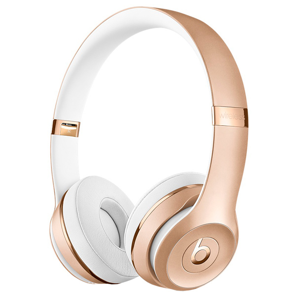 Наушники Bluetooth Beats Beats Solo3 Wireless On-Ear Gold (MNER2ZE/A) наушники beats solo3 wireless on ear gloss black mnen2ze a
